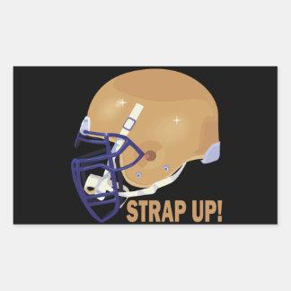 Strap Up Rectangular Sticker