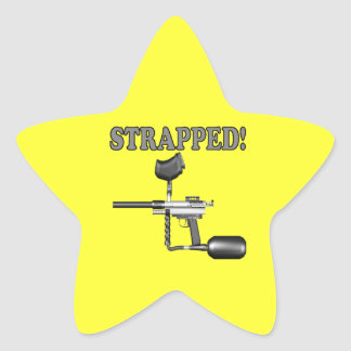 Strapped Star Sticker