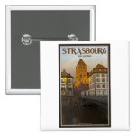 Strasboug - Ill River and St Thomas Pinback Buttons