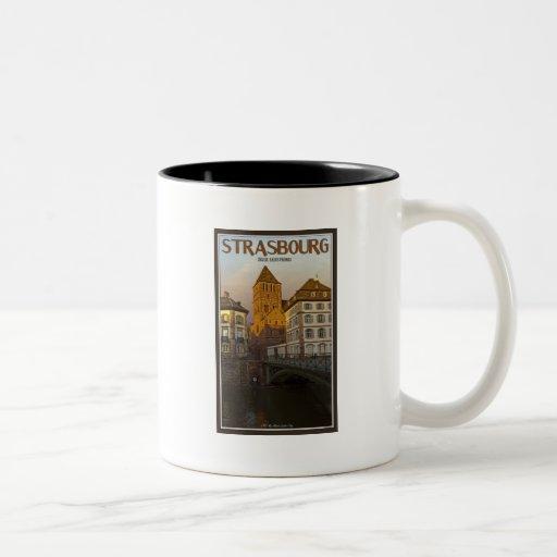 Strasboug - Ill River and St Thomas Two-Tone Coffee Mug