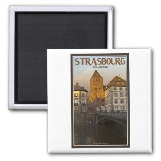 Strasboug - río y St Thomas enfermos Iman Para Frigorífico