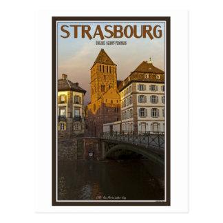Strasboug - río y St Thomas enfermos Postales