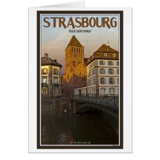Strasboug - río y St Thomas enfermos Tarjeta De Felicitación