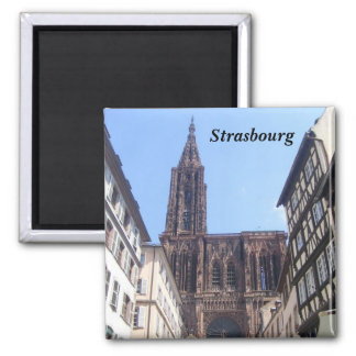 Strasbourg - 2 inch square magnet