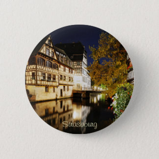 Strasbourg at night button