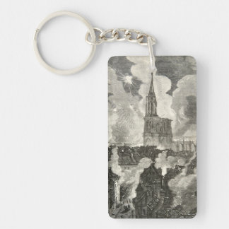 Strasbourg Cathedral Franco-Prussian War Night Keychain