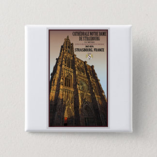 Strasbourg - Cathedral Notre Dame Button