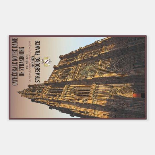 Strasbourg - Cathedral Notre Dame Rectangular Sticker