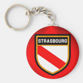 Strasbourg Flag Keychain