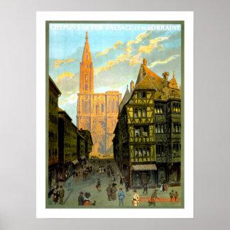 Strasbourg Vintage Travel Poster