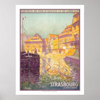 Strasbourg Vintage Travel Posters