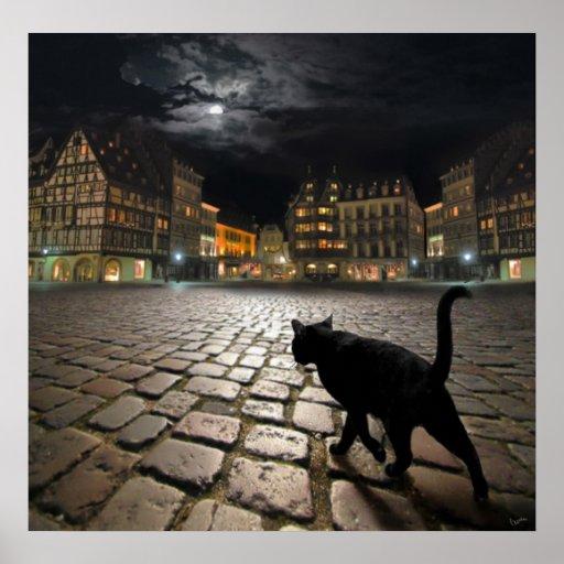 Strasbourg's night poster