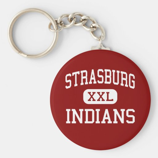 Strasburg - Indians - High - Strasburg Colorado Keychain