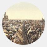 Strassburg, general view,  Alsace Lorraine, German Round Stickers