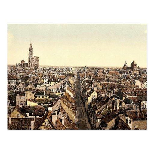 Strassburg, visión general, la Alsacia-Lorena, Tarjeta Postal