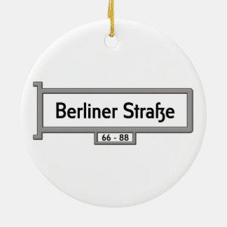 Strasse berlinés, placa de calle de Alemania Adorno Redondo De Cerámica