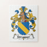 Strasser Family Crest Jigsaw Puzzle