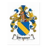 Strasser Family Crest Postcard