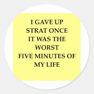 STRAT.jpg Classic Round Sticker