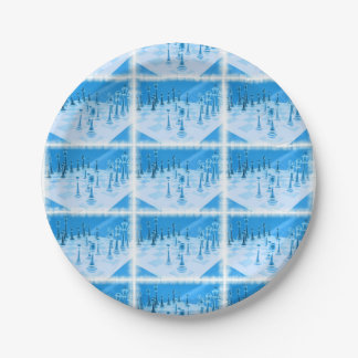 Strategic Chess Play 7 Inch Paper Plate