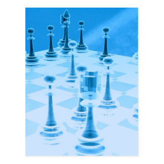 Strategic Chess Play Postcard