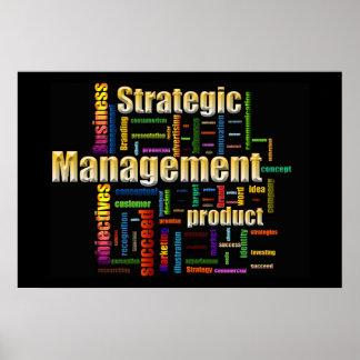 Strategic Management Design Black Poster