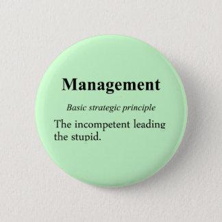 Strategic practices of executive managment (2) pinback button