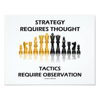 Strategy Requires Thought Tactics Observation 4.25x5.5 Paper Invitation Card