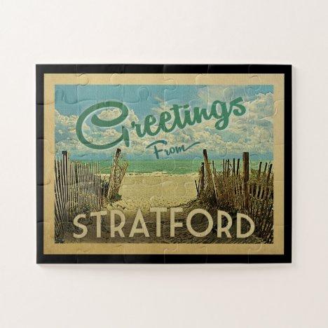 Stratford Connecticut Beach Vintage Travel Jigsaw Puzzle