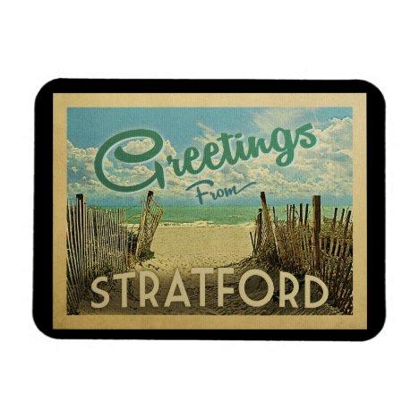 Stratford Connecticut Beach Vintage Travel Magnet