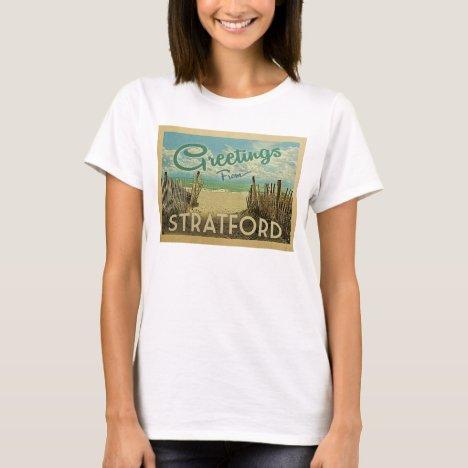 Stratford Connecticut Beach Vintage Travel T-Shirt