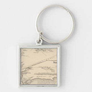 Stratford, Coos Co Silver-Colored Square Keychain