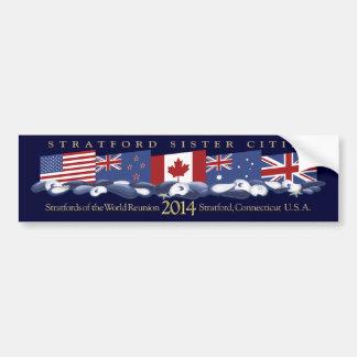 Stratford of the World Reunion 2014 Car Bumper Sticker