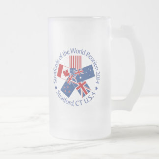 Stratford of the World Reunion 2014 Frosted Glass Beer Mug