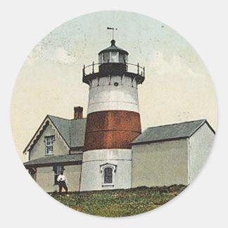 Stratford Point Lighthouse Classic Round Sticker