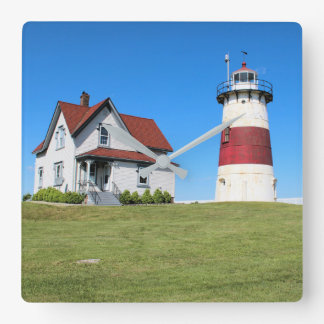 Stratford Point Lighthouse, Connecticut Square Wall Clock