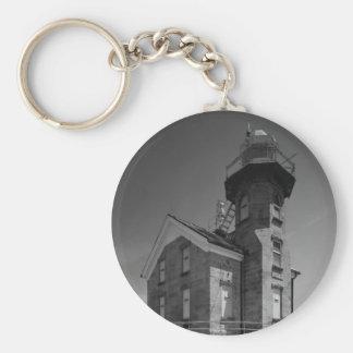 Stratford Shoal Lighthouse Basic Round Button Keychain