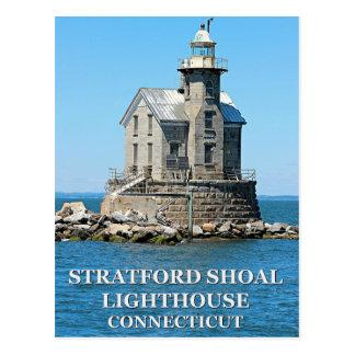 Stratford Shoal Lighthouse, Connecticut Postcard