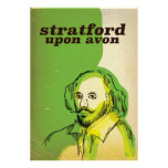 Stratford upon avon old style travel poster
