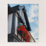 Stratford-upon-Avon Red Floral Photo Jigsaw Puzzle
