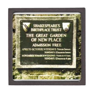 Stratford-upon-Avon  Shakespeare's Birth jGibney Jewelry Box