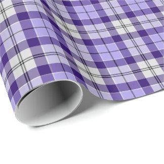 Strathclyde Scotland District Tartan Purple Plaid Wrapping Paper