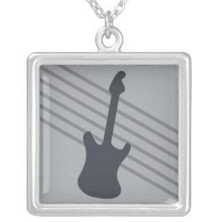 Stratocaster en rayas grises colgante cuadrado