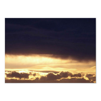 Stratocumulus hermoso invitación 12,7 x 17,8 cm