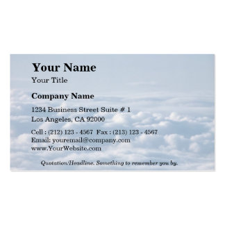 Stratocumulus pacífico plantillas de tarjeta de negocio
