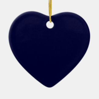Stratosphere Blue Save the Date Heart Ornament