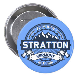 Stratton Blue Pinback Buttons