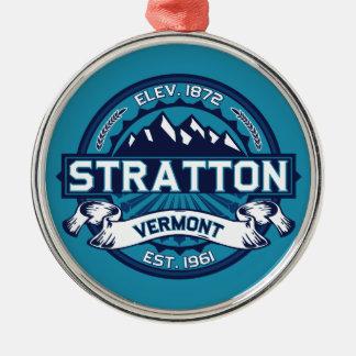 Stratton Ice Round Metal Christmas Ornament