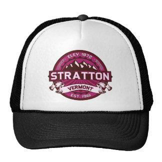 Stratton Logo Raspberry Trucker Hat