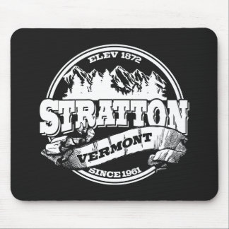 Stratton Old Circle Black Mouse Pad